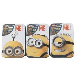 Despicable Me DM Snack Tin Box with Banana Flavour Golden Cookies 20g