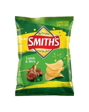 Smith Smith's Crinkle Cut Lamb & Mint 150g