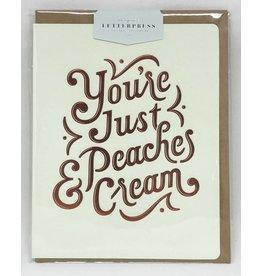 Bespoke Letter Press Bespoke Letterpress Greeting Card - You're Just Peaches Cream