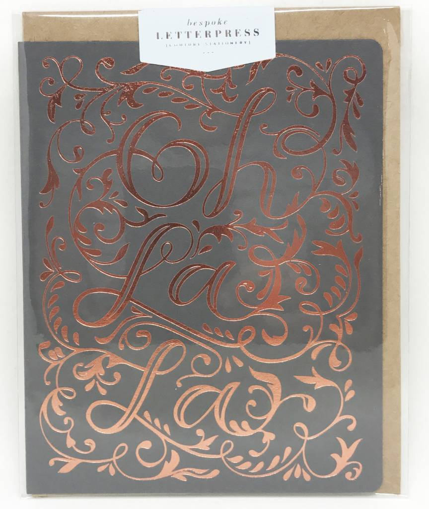 Bespoke Letter Press Bespoke Letterpress Greeting Card - Oh La La