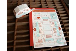 Bespoke Letter Press Bespoke Letterpress Tag-A-Long Camper 3D card
