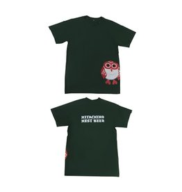 Hitachino Nest Hitachino Men's T-Shirt Green M Size
