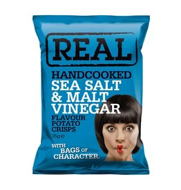 REAL Handcooked REAL Sea Salt & Malt Vinegar 35g