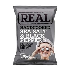 REAL Handcooked REAL Sea Salt & Black Pepper 35g