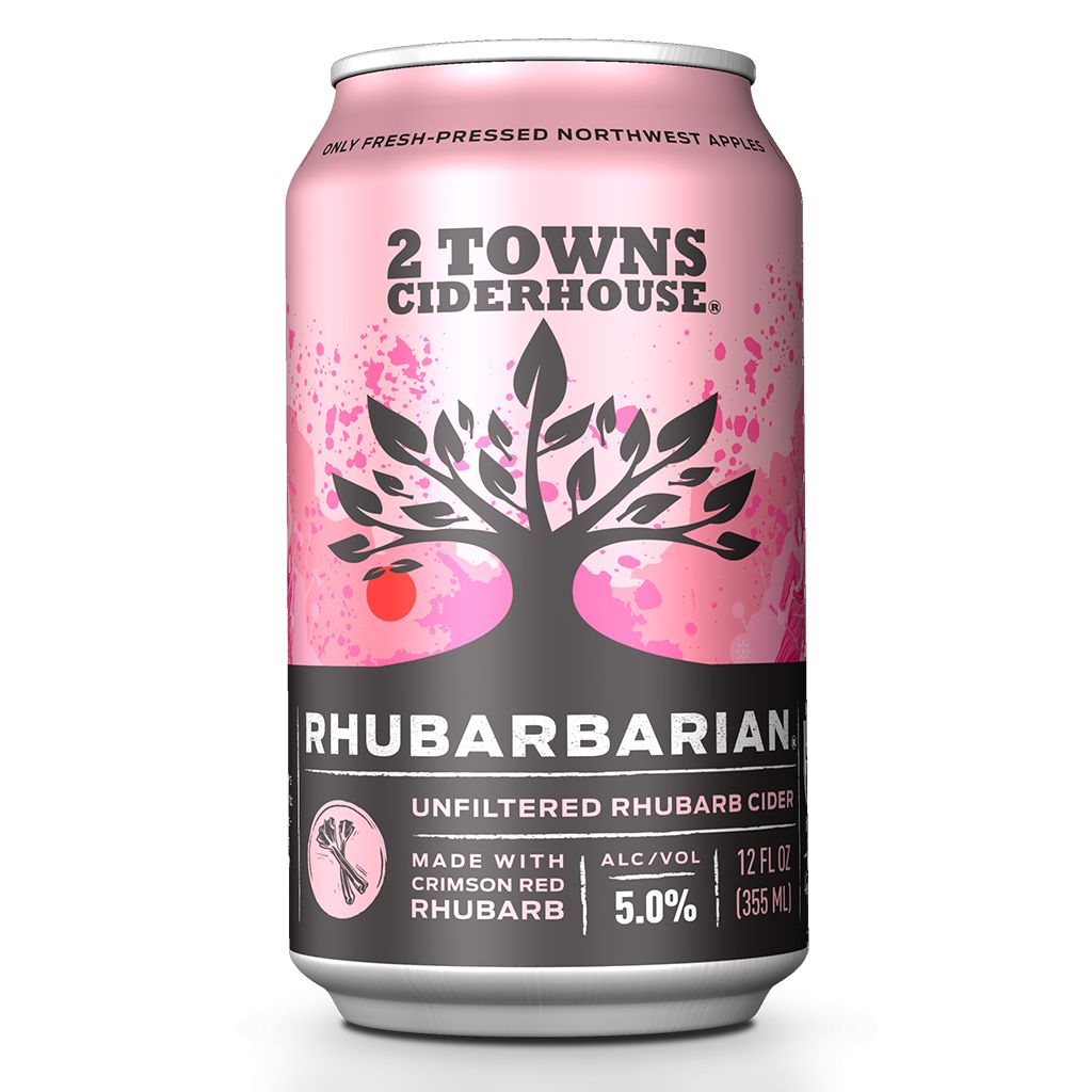 2 Towns Ciderhouse 2 Towns Ciderhouse Rhubarbarian Cider
