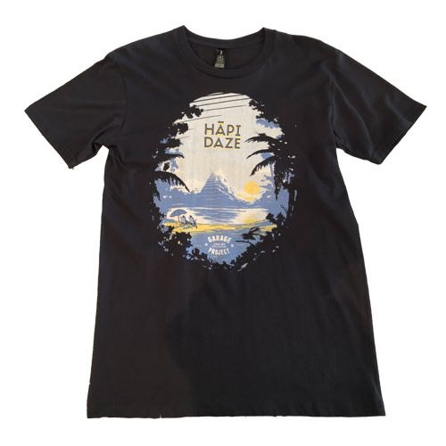 Garage Project Garage Project Hapi Daze Women's T Shirt Black S