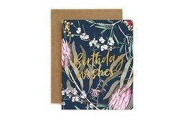 Bespoke Letter Press Bespoke Letterpress Greeting Card - Native Birthday Wishes (Foil)