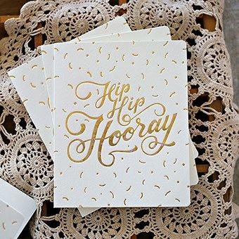 Bespoke Letter Press Bespoke Letterpress Hip Hip Hooray (Foil)