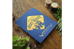Bespoke Letter Press Bespoke Letterpress Greeting Card - Sexy Beast (foil)