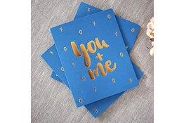 Bespoke Letter Press Bespoke Letterpress Greeting Card - You + Me (foil)