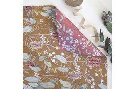Bespoke Letter Press Bespoke Double Sided Gift Wrap - Gum Leaves / Bush Blossom