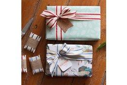 Bespoke Letter Press Bespoke Double Sided Gift Wrap - Mint Leaves / Honey cluster