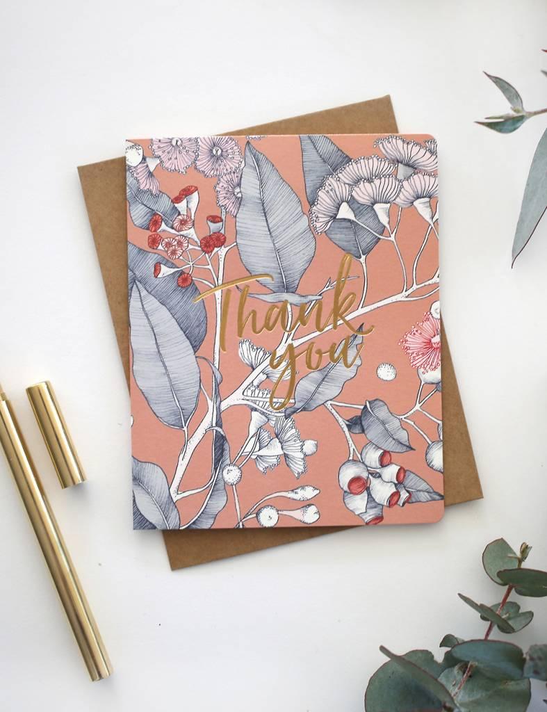 Bespoke Letter Press Bespoke Letterpress Greeting Card - Native Thank You (Foil)