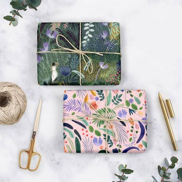 Bespoke Letter Press Bespoke Double Sided Gift Wrap - Jungle / Jungle Study