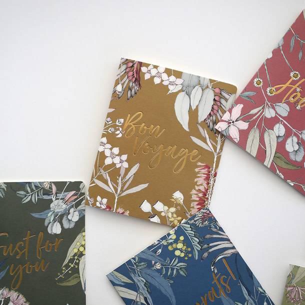 Bespoke Letter Press Bespoke Letterpress Greeting Card - Native Bon Voyage (Foil)