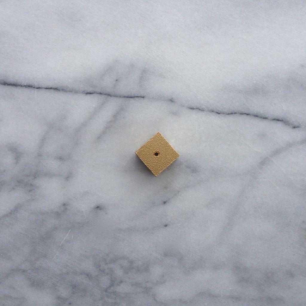 Cube Incense Holder - Brass