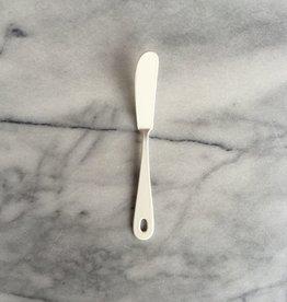White Enamel Butter Knife