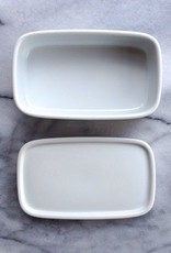 Hakusan White Rectangle Dish with Lid