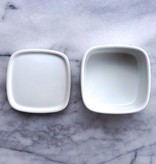 Hakusan White Square Dish with Lid