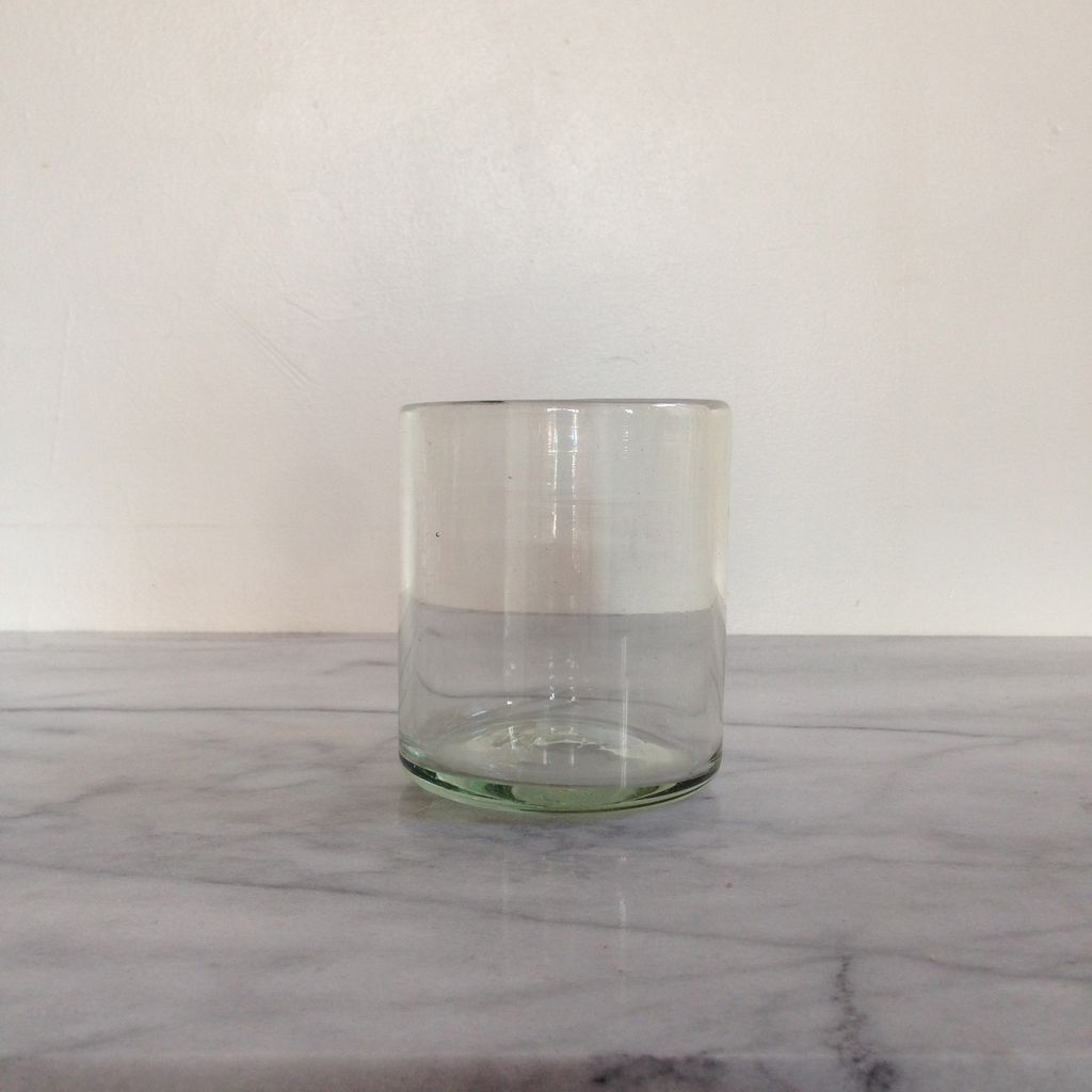 Handblown Mexican Rock Glass