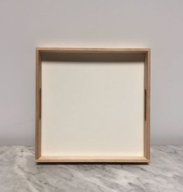 Swedish Birch Tray - White - 12 x 12 x 1.5 in