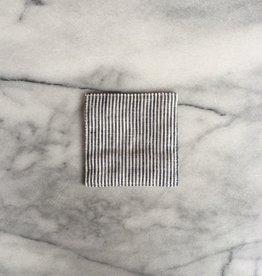 Lithuanian Linen Coaster - White Seersucker