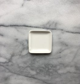 Square Porcelain Plate - Tiny - 2.75 in. x 2.75 in. x .5 in.