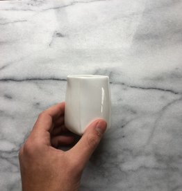 Tall White Folded Cup - 3.25 in.H