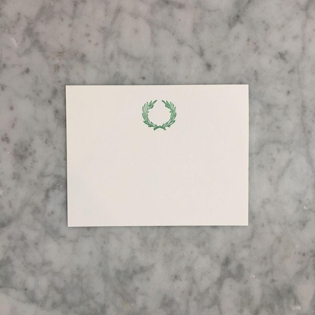 Brown Ink Letterpress Card - Laurel