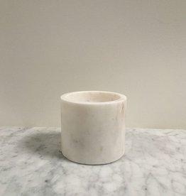 Nordstjerne Danish White Marble Candleholder - Large - 4 in. x 3.5 in.