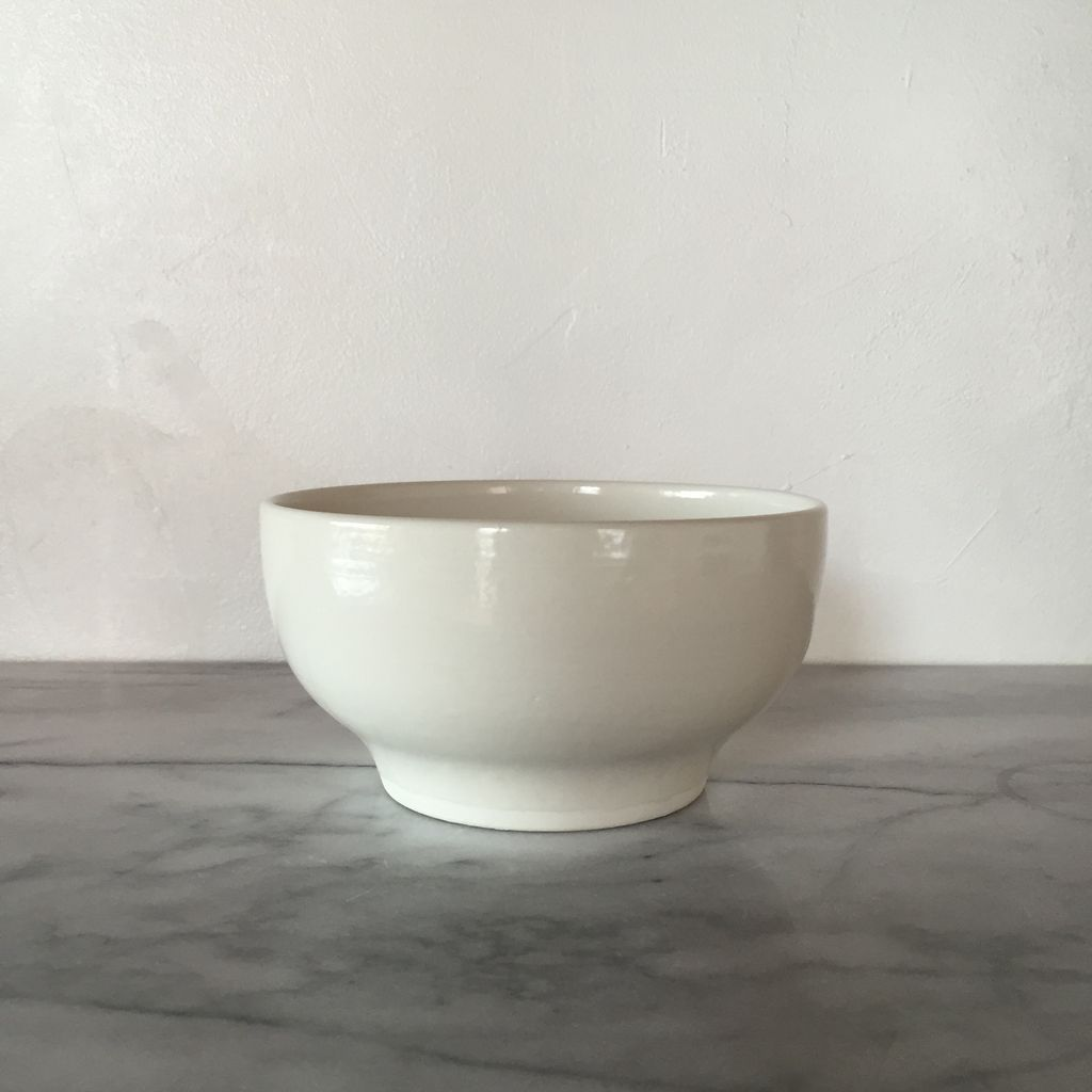 John Julian John Julian Plain Porcelain Simple Bowl Plain - 5.8D