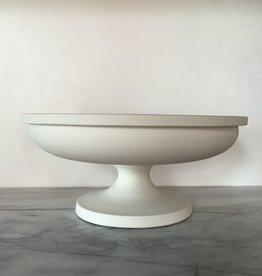 John Julian John Julian Porcelain Half Glaze Fruit Stand - Short - 5.5H