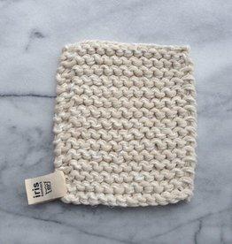 Swedish Linen and Cotton Kettle Holder - White