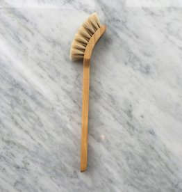 Swedish Long Handled Curved Dish Brush - Horsehair