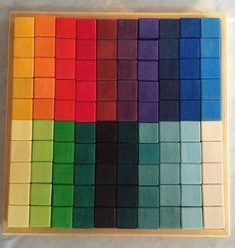 Grimm's Toys 100 pc. Mosaic Large Block Set - 17.5‰Û Square