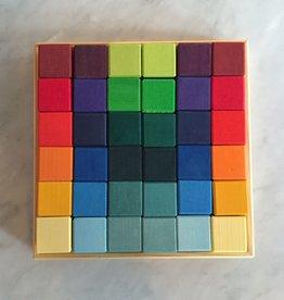 Grimm's Toys 36 pc. Square Block Set - 10.25‰Û Square