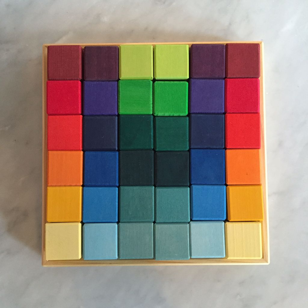 Grimm's Toys 36 pc. Square Block Set