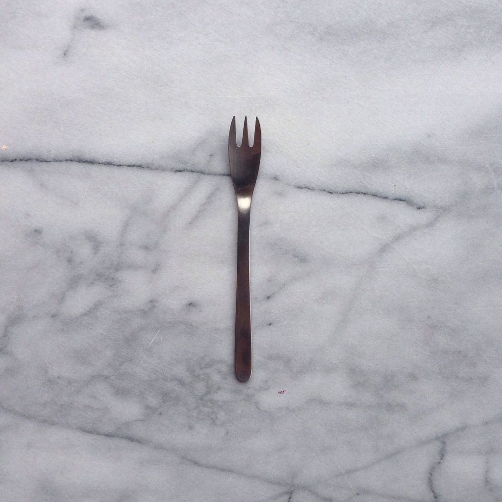 Sori Stainless Cake Fork - 6 in.