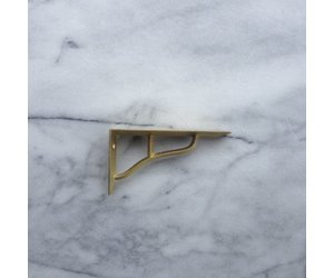 Futagami Ihada Brass Shelf Brackets (Set Of 2)   Small   4.75 X 2.5 In    The Foundry Home Goods