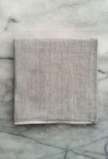 Two Tone Chambray Washcloth - Light Grey Square