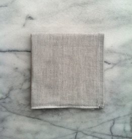 Two Tone Chambray Washcloth - Light Grey Square