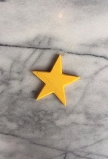 Ostheimer Toys German Handcarved Star Ornament - Yellow