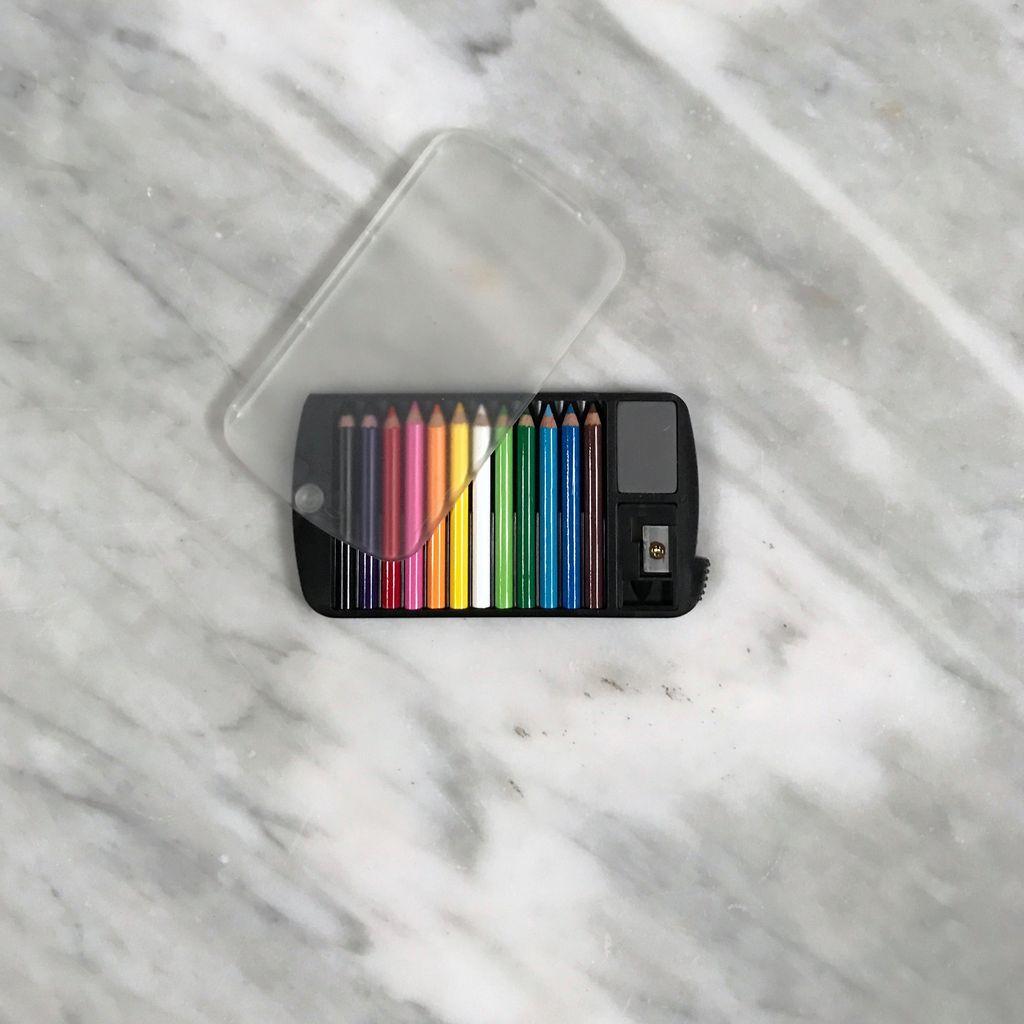 Mini Color Pencil Set with Sharpener