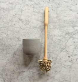 Birch Toilet Brush in Light Grey Concrete Stand