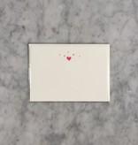 Brown Ink Letterpress Card - Starry Hearts