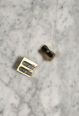 Brass Wedge Single Pencil Sharpener