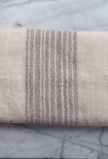 Flax Line Bath Towel - Brown and Beige