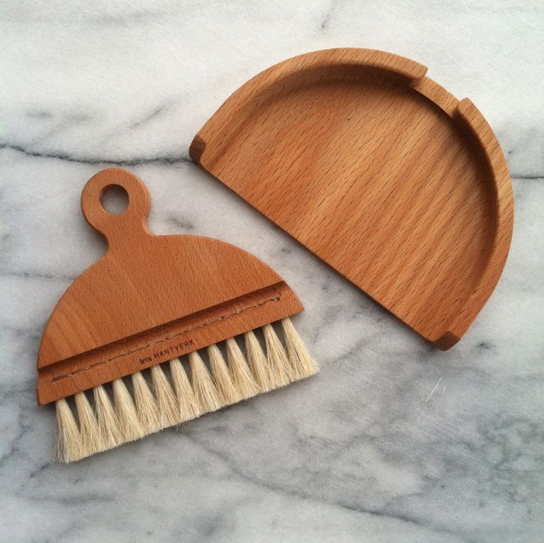 Nesting Beech Table Brush + Pan Set