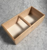 Swedish Birch Storage Box Caddy Tote with Handle - 12.25 in. L x 6 in. W x 3.5 in. H