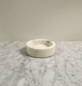 Nordstjerne Danish White Marble Candleholder - Small - 4 in. x 1.25 in.